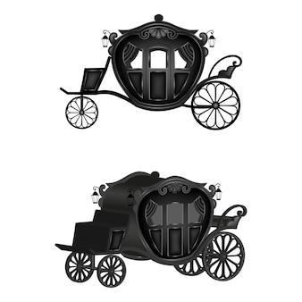격리 된 검은 마차