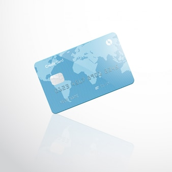 分離された空白のクレジットカード