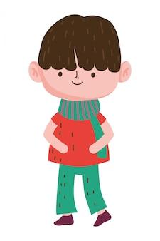 Isolated boy cartoon design vector illustration