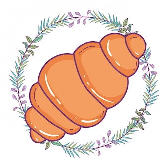 Isolated bread illustration