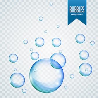 孤立した泡の浮遊背景