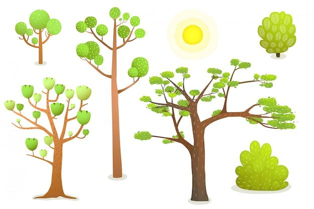 고립 된 만화 나무