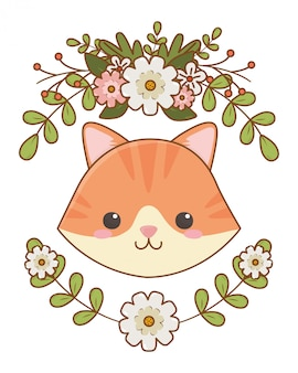 Isolated cat cartoon clip-art illustration