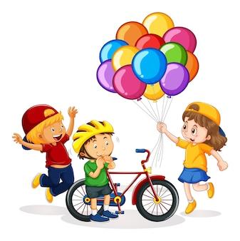 Personaggio dei cartoni animati di bambini isolati