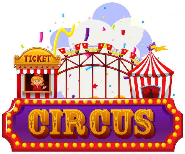 An isolated circus banner