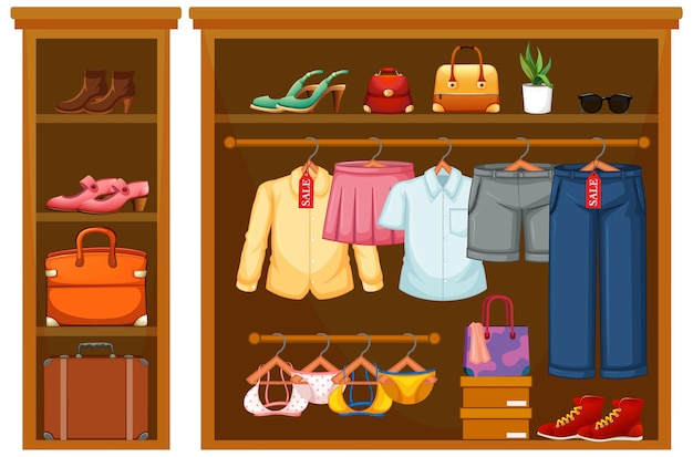Isolated clothes in the closet