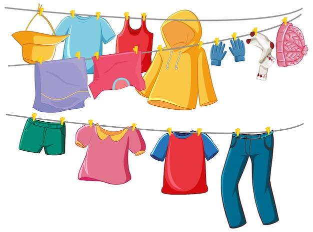 Изолированная одежда на дисплее стойки