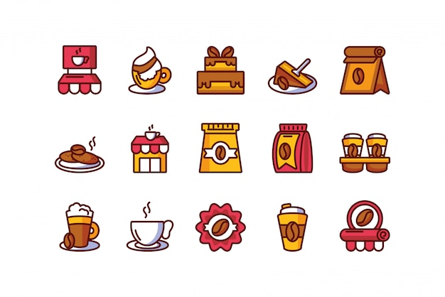 Isolated coffee icon set vector design