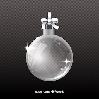Isolated crystal christmas ball on transparent background