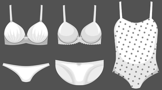 Isolated cute female underwear