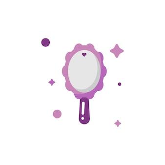 Изолированный милый макияж mirro icon set collection