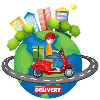 Isolated delivery icon on white background