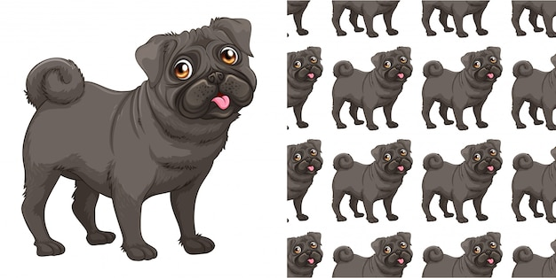 Isolated dog pattern cartoon