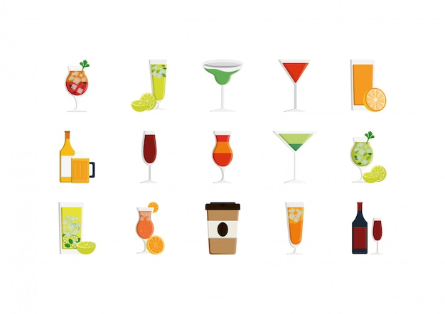 Isolated drinks icon set vector design