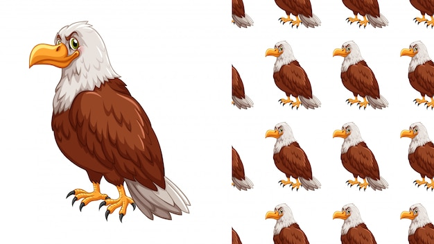Isolated eagle pattern cartoon