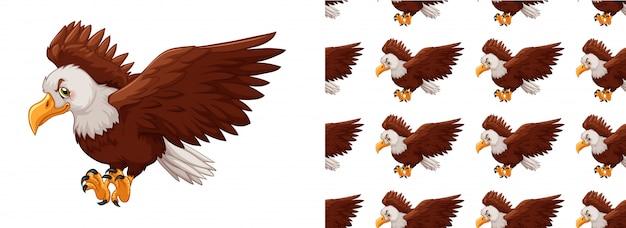 Isolated eagle pattern cartoon