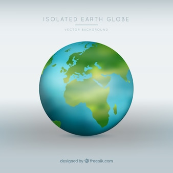 Isolated earth globe vector background