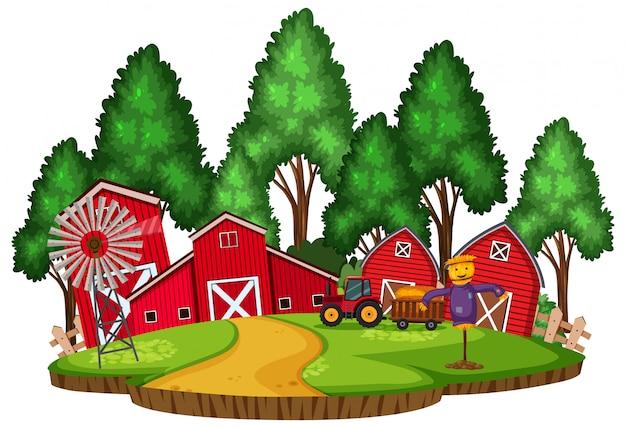 Isolated farm land