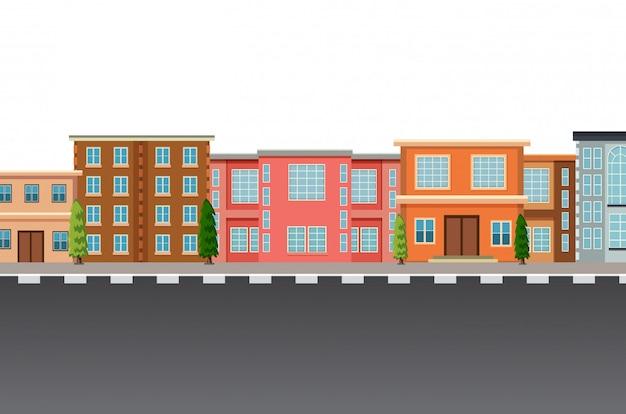 Изолированный плоский городской шаблон