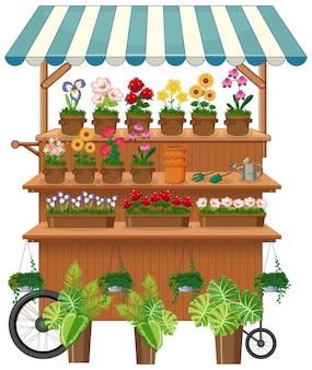 격리 된 꽃 공급 업체 카트