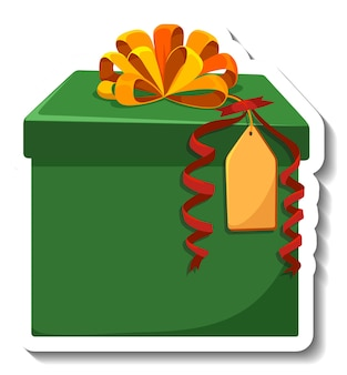 Isolated gift box sticker