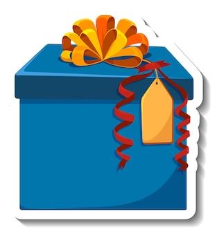 Изолированный стикер подарочной коробки