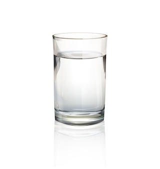 Isolated glass of water