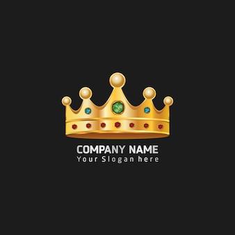 Изолированные золотой короны на черном фоне