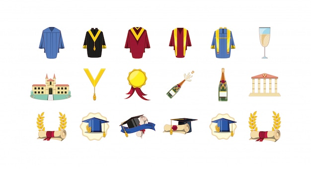 Набор иконок выпускной