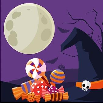 Isolated halloween candies