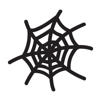 Isolated hand drawn vector illustration of cobweb in doodle style. halloween element for festival design, invitation, greeting card, poster.