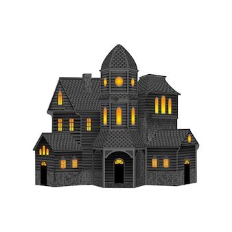 고립 된 유령의 집 할로윈 집