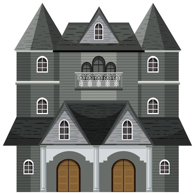 Изолированный фасад особняка с привидениями