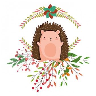 Isolated hedgehog cartoon vector design