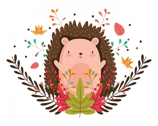 Isolated hedgehog cartoon
