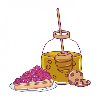 Isolated honey jar illustration