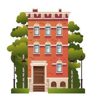孤立した家の家のコンセプト