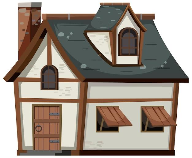 흰색 배경에 고립 된 집