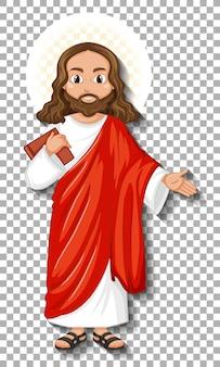 Изолированные иисус мультипликационный персонаж
