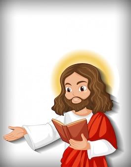 Isolated jesus cartoon character