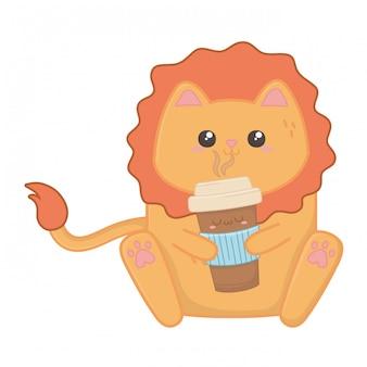 Мультфильм каваи льва