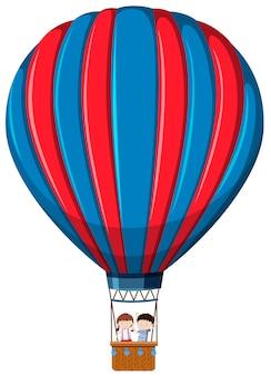 Изолированные дети в воздушном шаре