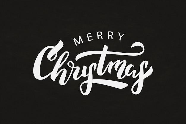 Изолированные надписи для счастливого рождества для украшения и покрытия на фоне мела