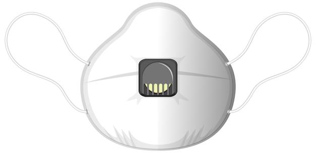 Изолированная медицинская маска на белом фоне Premium векторы