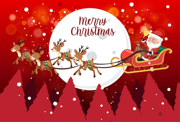 Isolated merry christmas banner