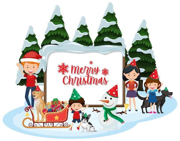 孤立したメリークリスマスバナー