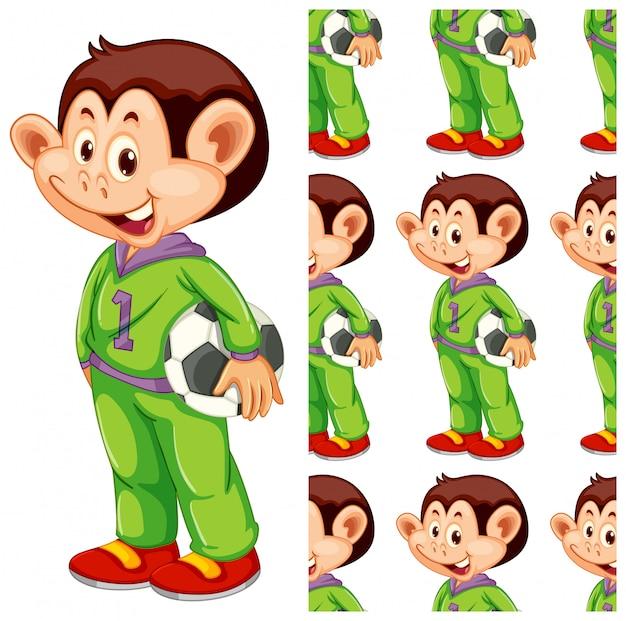 Isolated monkey pattern cartoon