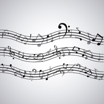 Isolated music note icon