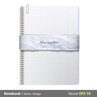 Isolated notebook background