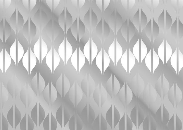 銀と白の背景のベクトル図に分離